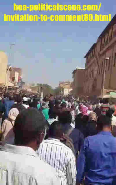 hoa-politicalscene.com/invitation-to-comment80.html: Invitation to Comment 80: Political statements on December 2018 uprising in Sudan وهل تعرف المعارضة السودانية ما تريد؟
