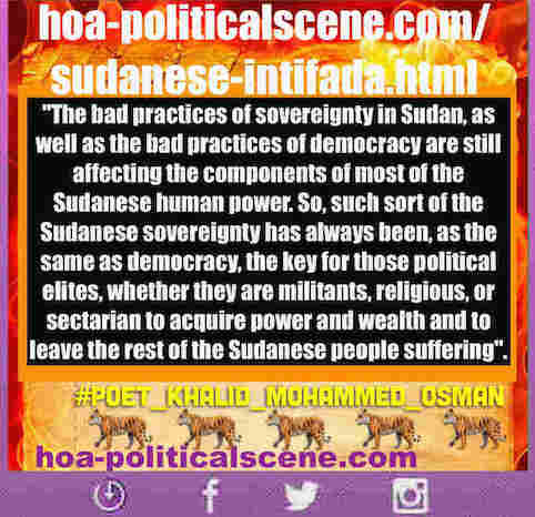 hoa-politicalscene.com/sudanese-intifada.html: Sudanese Intifada: يوميات الثورة السودانية في يناير 2019م. Diary of the Sudanese Intifada in January 2019.