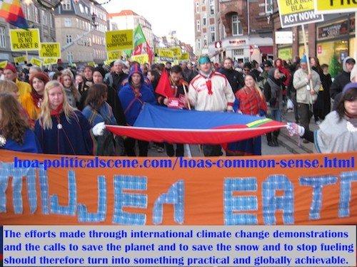 hoa-politicalscene.com/hoas-common-sense.html - HOA's Common Sense: Efforts made through international climate change demonstrations & calls to save planet should take another turn.