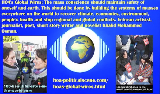 hoa-politicalscene.com/hoas-global-wires.html - HOA's Global Wires: The mass conscience should maintain safety of oneself and earth. This should be done by building the systems of masses.