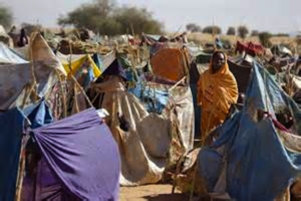 Darfur Crisis: Internally Displaced Fur People in el Fshir Camp, Sudan.