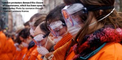Protesters in London Demand the Closure of Guantanamo!