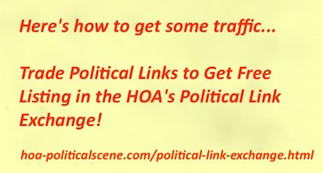 Swap political links with the political link exchange of HOA PoliticalSce