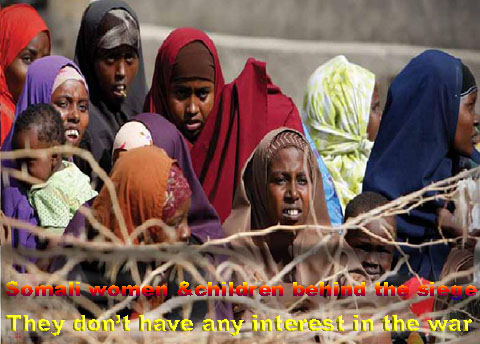 Brief history of Somalia: Somali displaced children and women.