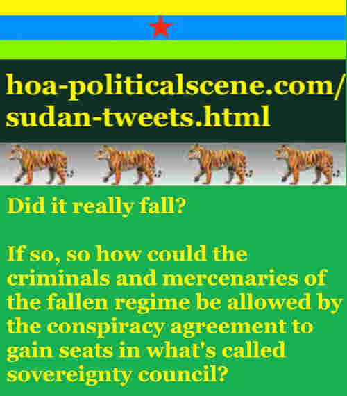 hoa-politicalscene.com/sudan-tweetss.html: Sudan Tweets: A political quote by Sudanese columnist journalist and political analyst Khalid Mohammed Osman in English 781.