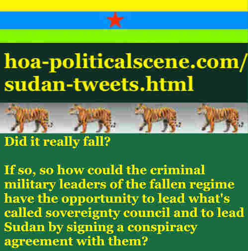 hoa-politicalscene.com/sudan-tweetss.html: Sudan Tweets: A political quote by Sudanese columnist journalist and political analyst Khalid Mohammed Osman in English 782.