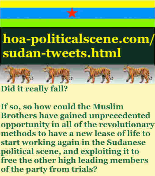 hoa-politicalscene.com/sudan-tweetss.html: Sudan Tweets: A political quote by Sudanese columnist journalist and political analyst Khalid Mohammed Osman in English 784.