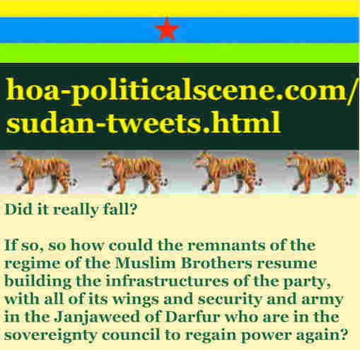 hoa-politicalscene.com/sudan-tweetss.html: Sudan Tweets: A political quote by Sudanese columnist journalist and political analyst Khalid Mohammed Osman in English 785.