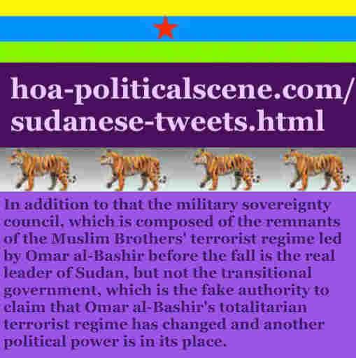 hoa-politicalscene.com/sudanese-tweets.html: Sudanese Tweets: A political quote by Sudanese columnist journalist and political analyst Khalid Mohammed Osman in English 760.