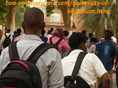 hoa-politicalscene.com/university-of-khartoum.html - University of Khartoum: Students marching to stop destructing the university compounds and selling the location to capital investors.